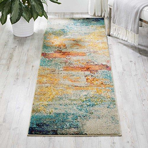 NOURISON Teppich Mondrian Celestial Bereich Teppich, Synthetisch, blau, 2'2