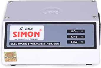 """Simon Voltage Stabilizer For LED TV Up To 42""""Inch - White ( 100 % Copper )"""