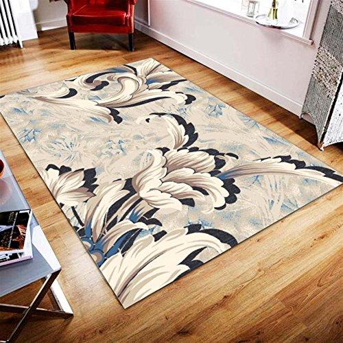 Ommda Teppiche Wohnzimmer Modern Digitales Drucken Teppich Colorful Kurzflor Antirutsch Abwaschbar 180x300cm 9mm