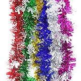 YINGGG 6 pezzi, 2m Metallico Ghirlanda per Albero di Natale Decorazione Feste e Compleanni