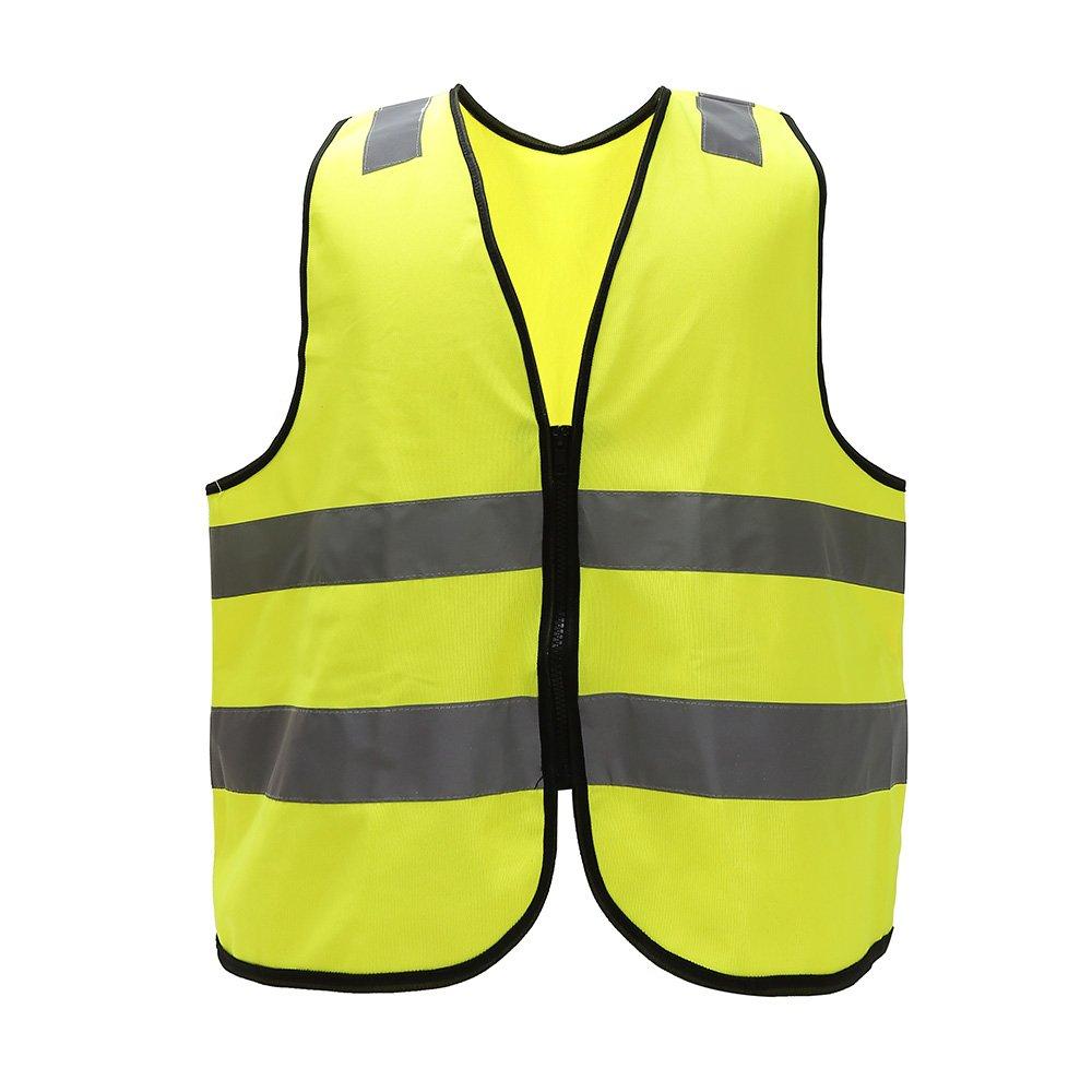 Donna e uomo gilet di sicurezza ad alta visibilità per costruzione costume, ciclismo, Uomo, Yellow,