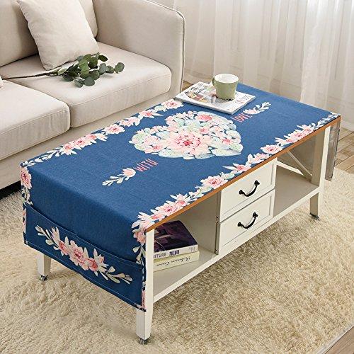 Blau Geometrische gedruckt Tischdecken Home Staubdicht Tuch - Baumwolle und Leinen Staubdicht Abdeckungen Multi-Funktions-Tee Tisch Staubschutz mit Aufbewahrungsbeutel , blue , 70cm*160cm (Nette Schreibtisch-abdeckung)