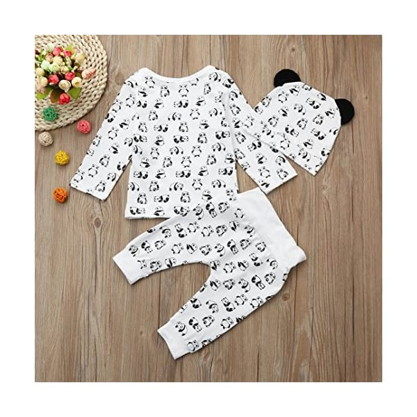 Camisas y Pantalones con Gorras Bebe Navidad Pijamas Enteros de Invierno para Niño y Niña por ESAILQ E 5