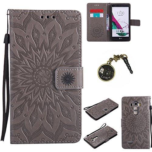 Preisvergleich Produktbild für LG G4 Hülle,Hochwertige Kunst-Leder-Hülle mit Magnetverschluss Flip Cover Tasche Leder [Kartenfächer] Schutzhülle Lederbrieftasche Executive Design +Staubstecker (5FF)