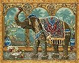 WOWDECOR DIY Malen nach Zahlen Kits Geschenk für Erwachsene Kinder, Malen nach Zahlen Home Haus Dekor - Thailändischer glücklicher Elefant 16 x 20 Zoll (X7046, Ohne Rahmen)