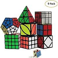 YGZN Speed Cube Set 8 Pack 2x2 3x3 4x4 Speed Cube ,Megaminx Pyramid Skewb lvy Cube Mirror Cube Smooth Speedcubing Magic…