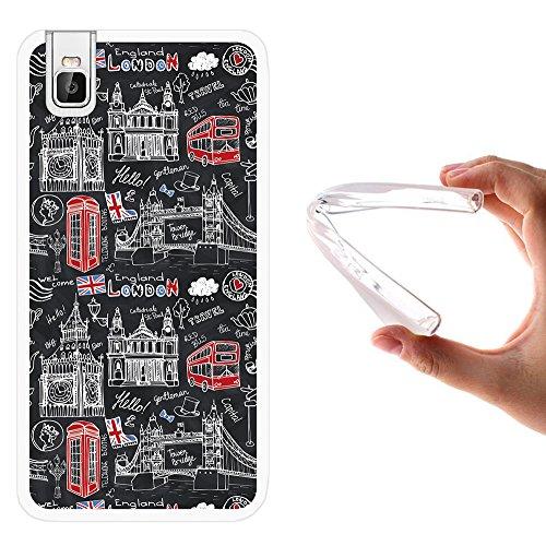 WoowCase Huawei Honor 7i Hülle, Handyhülle Silikon für [ Huawei Honor 7i ] London Symbole Handytasche Handy Cover Case Schutzhülle Flexible TPU - Transparent