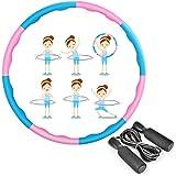 MEckily Hula Hoop Hoelahoep voor volwassenen en kinderen voor gewichtsverlies en massage, met schuimrubber bekleed, 8 golfsec