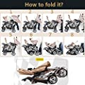 Fashion Light Front & Rear Twins Stroller, Double Baby Stroller, 2 Seats Pushchair, Baby Carriage for Two Kids, Anti-UV, Portable, Folding, With Big Basket & Plates