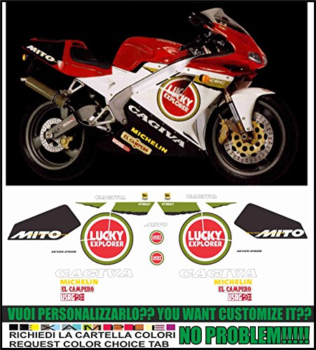 Emanuel & Co Kit adesivi decal stikers cagiva mito ev 125 1995 lucky explorer (ability to customize the colors)