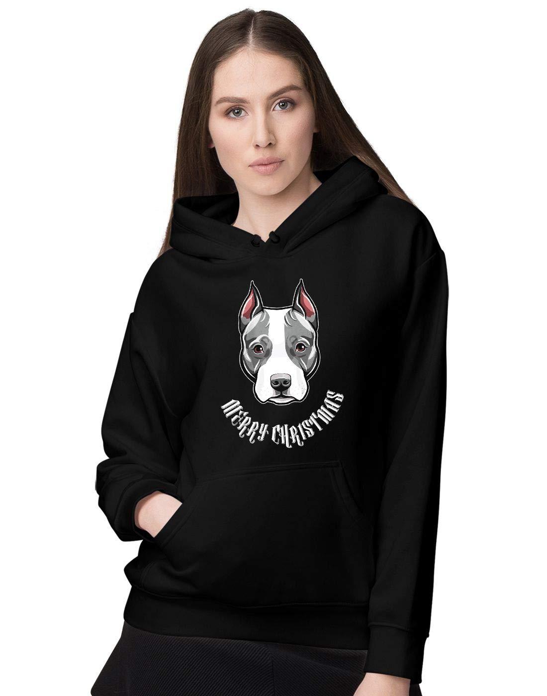 BLAK TEE Women's Grey American Staffordshire Bull Terrier Hoodie