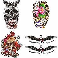 COKOHAPPY Temporanei Temporaneo Tatuaggi Tattoo 8 Diverso Foglio Rose Rosa