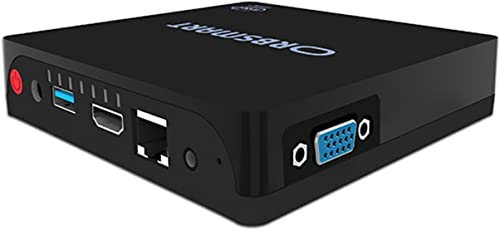 Orbsmart lüfterloser Mini PC AW-08 Windows 10 Desktop-PC (Intel Apollo Lake N3450 CPU, 4GB RAM, 32GB int. Speicher, HDMI & VGA, USB 3.0, Gigabit-LAN, Dualband WLAN-ac, Bluetooth 4.0)