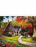 Falcon de luxe 2x 500-teiliges Puzzle Set Woodland Ferienhäuser, multi, Einheitsgröße