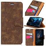 Danallc HTC U12 Life Case, HTC U12 Life Wallet Case, New Premium Slim Leather Wallet Back Case With Credit Card ID Holder Protective Case Compatible With HTC U12 Life,Brown