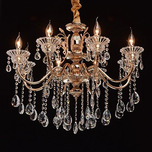 Kronleuchter Kerzen Kristall Gold Klassisch 8 armig Wohnzimmer (Kronleuchter Gold Licht 8)
