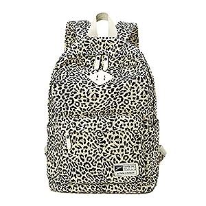 61i7kSveXTL. SS300  - Moollyfox Mujer Estampado de leopardo Mochila de Viaje Estilo de muy buen gusto bolso de escuela la capacidad grande…
