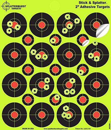 Splatterburst Targets Lot de 400cibles réactives autocollantes 5cm
