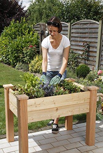 Bio Green Balkon & Terassenhochbeet 1000 x 600 x 750 mm aus Lärchenholz – unbehandelt