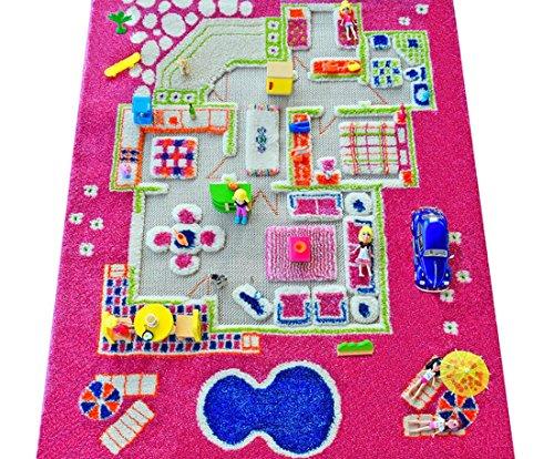 Playhouse Pink, von IVI 3D Spielen Teppiche, 80x 113cm