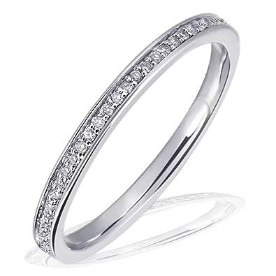Weißgold verlobungsring  Goldmaid Damen-Ring Memoire 585 Weißgold 60 Brillanten 0,23 ct ...