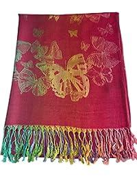 CJ Apparel Diseño de mariposa Mantón Pashmina Bufanda Wrap Estola Lanzar Secondi NUEVO