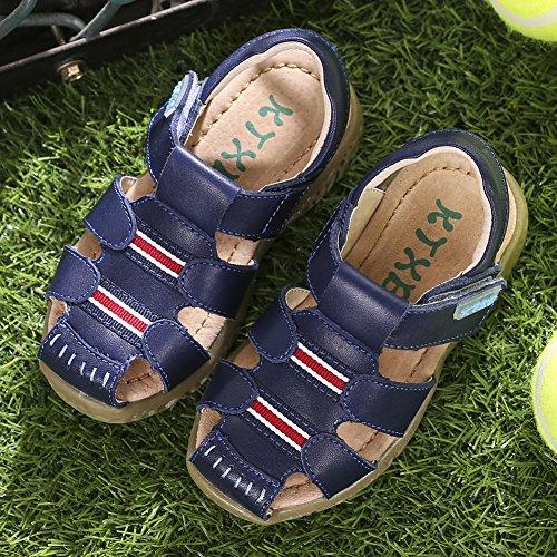 Junge Kinder Sandalen Sommer Strand Outdoor Geschlossen-Toe Sandalen Abenteuerlich Design Leicht-Sport-Sandalen Kinder Athletic Beach Schuhe C:Blue