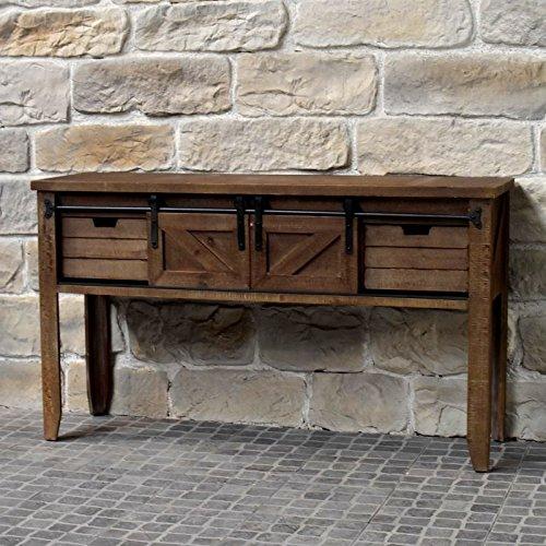 chemin_de_campagne Meuble Console Table de Drapier Industriel Bois Fer 140 cm