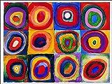 L'AFFICHE ILLUSTREE Kandinsky' Farbstudie Quadrate' Stampa Artistica in offset su carta di gr.300 cm. 120 x 90 cod.90121 di Mignecoandsmith.com