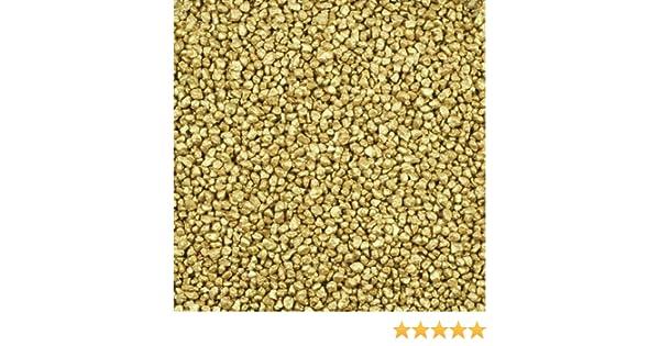 gelbgold-metallic 1 kg Dekogranulat // Dekosteine 2-3 mm