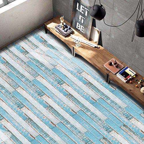 Traditionellen Stil Vinyl (wanshop® Selbstklebende Fliesen Art Boden Wand Aufkleber Aufkleber Abnehmbare DIY Küche Badezimmer Wohnzimmer Decor Vinyl g)