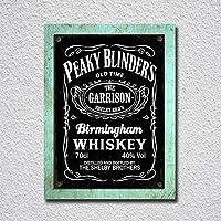 Peaky Blinder's Birmingham Whiskey Carteles de Chapa Póster de Pared Hojalata Vintage Hierro Pintura Retro Metal Placa Arte Decoración para Hogar Bar Club Café