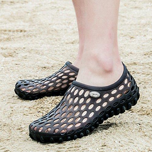 Sentao Hommes Antidérapant Plage Sabots Jardin Sandales Indoor/Outdoor Pantoufle Plage-Sport de Chaussures style 1