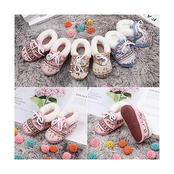 shihao159 Baby Socks Shoes,Keep Warm Slippery Soft bottom Cotton Fabrics Baby's First Step Baby Socks(blue) 4