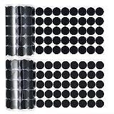 1000 Stück (500 Paare) 2 cm Durchmesser Klebende Münzen Selbstklebende Haken- und Klettband Punkt Befestigungspunkt, Schwarz