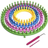 iGadgitz Home U6988 - Tricotin Circulaire Kit, Métier à Tisser la Laine, Ensable de Métier à Tricoter Rond (4 tailles - 14cm 