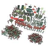 MagiDeal Jouets Modèles Soldats Avion Tank Bureau de l'armée En Plastique Jeux de Simulation Jouet Enfant - 290 pièces...