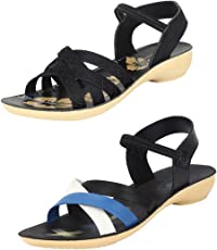 Bersache Women Multi Combo Pack of 2 Sandal & Floater
