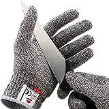 Schnittfeste HandschuheSchnittschutzhandschuheLeistungsfähiger Level 5 Schutz Lebensmittelecht M