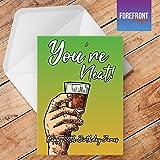 Personalisiertes 'Sie Neat Alkohol Spoof Grußkarte–Texten für jede Gelegenheit oder Event–Geburtstag/Weihnachten/Hochzeit/Jahrestag/Verlobung/Vatertag/Muttertag
