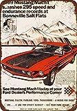 PotteLove 1969Ford Mustang Mach 1Bei Salz von Bonneville, Vintage Metall Schilder 20,3x 30,5cm