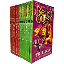 Beast Quest Collection Series 1 & 2 12 Books Collection Pack Set (Arcta the Mountain Giant, Epos the Flame Bird, Ferno the Fire Dragon, Nanook the Snow Monster, Sepron the Sea Serpent, Tagus the Horse-man, Trillion the Three-headed & More...)