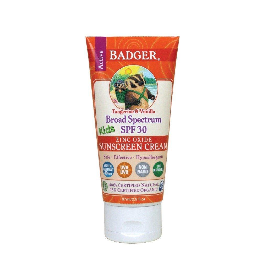 Badger Balm SPF 30, protector solar en crema para niños, 2,9oz.