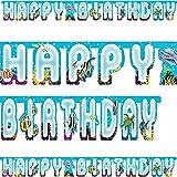 Partykette * OCEAN PARTY * für Kindergeburtstag und Mottoparty // Kinder Geburtstag Party HAPPY BIRTHDAY BANNER Ozean Meer Korallenriff Clownfisch Schildkröte Delfin