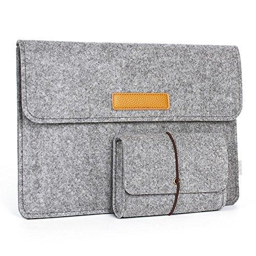 Preisvergleich Produktbild JSVER Laptophülle 13,3 Zoll Filz Sleeve Tasche für MacBook Air/Pro Retina, 12,9 Zoll iPad Pro und Ultrabook, Grau
