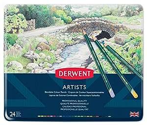 Derwent 32093 Artists Colouring Pencils, Set of 24, Professional Quality, Multicolor+C1301