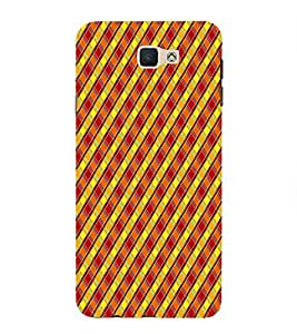 Fiobs Designer Back Case Cover for Samsung Galaxy On Nxt (2016) (Check Line Pattern)