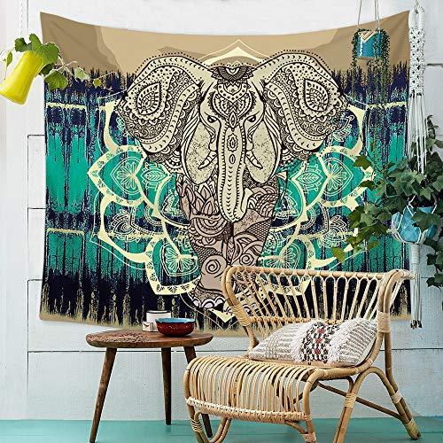 ZYBC Tapiz De Mandala De Elefante Psychedelic Wall Hanging Decor Home Hippie Bohemian Tapestry para Dormitorio Sala De Estar Dormitorios (01,XS)