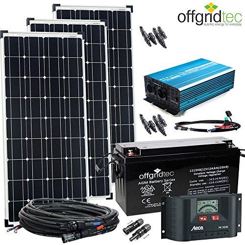 12V Solaranlage Autark XL-Master 300W Solar - 1500Wp AC Leistung 12V 230V - Inselanlage - Solarset - Entladen-modul
