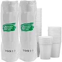 Lot de 100 gobelets en papier biodégradable compostable 180 ml pour boisson d'eau